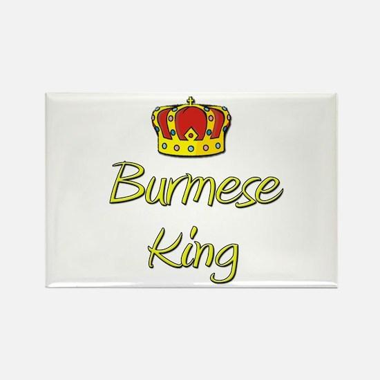 Burmese King Rectangle Magnet