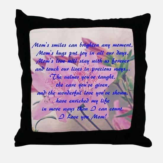 Mothers Day Azaleas Throw Pillow