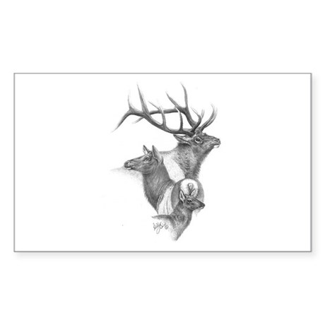 Elk Rectangle Sticker