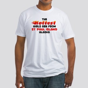 Hot Girls: St Paul Isla, AK Fitted T-Shirt