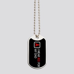 Red Ribbon: Red for my Dad Dog Tags