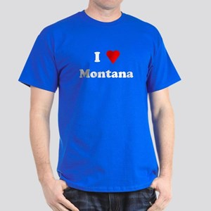 I Love Montana Dark T-Shirt