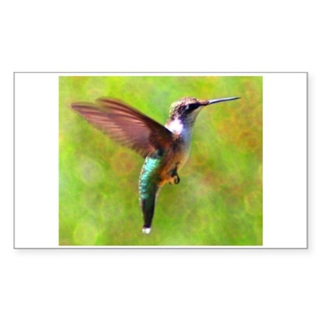Hummingbird Rectangle Sticker