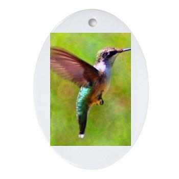 Hummingbird Oval Ornament