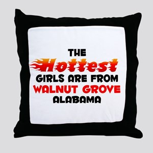 Hot Girls: Walnut Grove, AL Throw Pillow