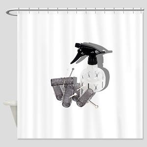 HairRollersWaterSprayer060910shadow Shower Curtain