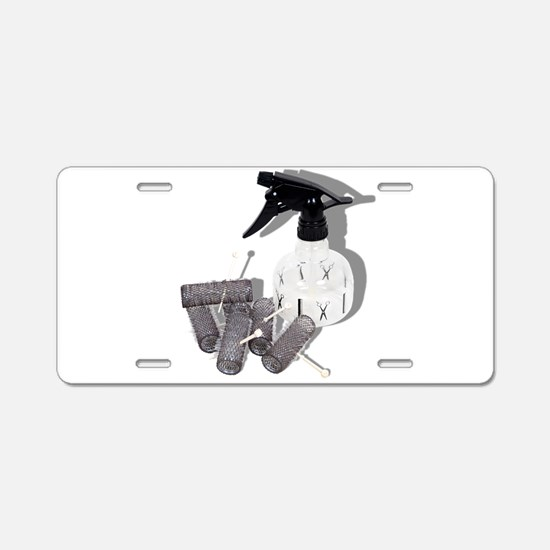 HairRollersWaterSprayer0609 Aluminum License Plate