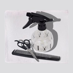 HairdresserItems060910Shadows Throw Blanket