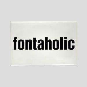 Fontaholic Rectangle Magnet