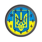 Ukraine Flag Wall Clock
