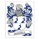 Merrill Coat of Arms Small Poster