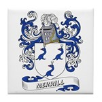 Merrill Coat of Arms Tile Coaster
