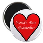 "World's Best Godmother 2.25"" Magnet (10 pack)"