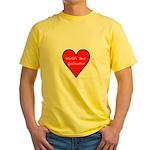 World's Best Godmother Yellow T-Shirt
