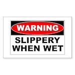 Slippery Rectangle Sticker