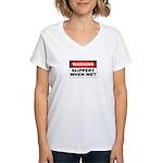 Slippery Women's V-Neck T-Shirt