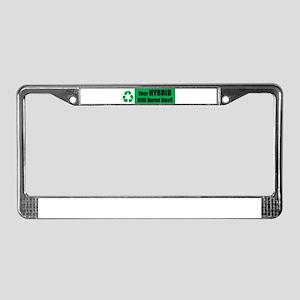 Hybrid Cars License Plate Frame