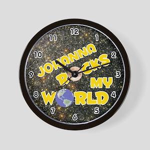 Johanna Rocks My World (Gold) Wall Clock