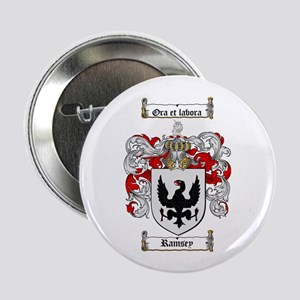 "Ramsey Family Crest 2.25"" Button (100 pack)"
