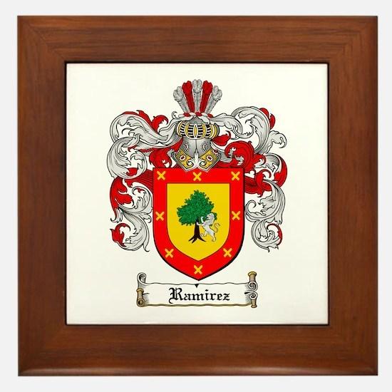 Ramirez Family Crest Framed Tile