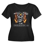V TWIN Women's Plus Size Scoop Neck Dark T-Shirt
