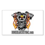 V TWIN Rectangle Sticker