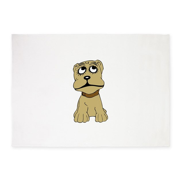 Dog Chewing On Rugs: Dog 5'x7'Area Rug By ADMIN_CP2998727