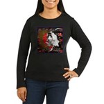 Cat Sagittarius Women's Long Sleeve Dark T-Shirt