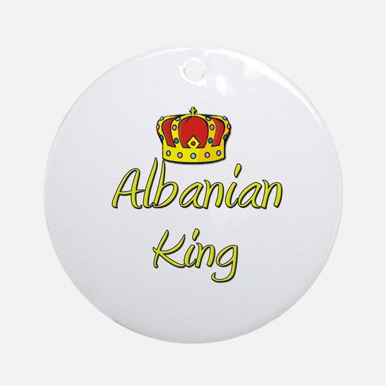 Albanian King Ornament (Round)