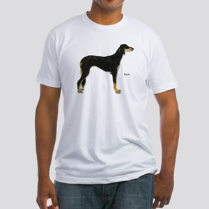 Saluki Dog (Front) Fitted T-Shirt