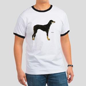 Saluki Dog (Front) Ringer T