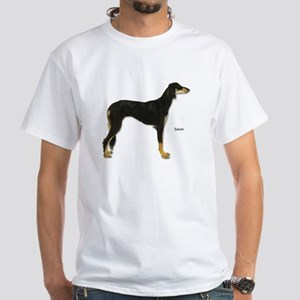 Saluki Dog (Front) White T-Shirt