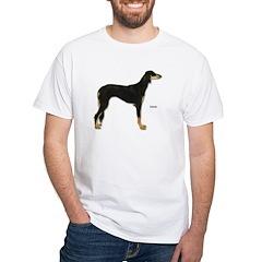 Saluki Dog (Front) White T-Shirt