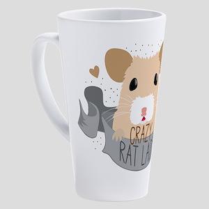 Crazy Rat Lady 17 oz Latte Mug
