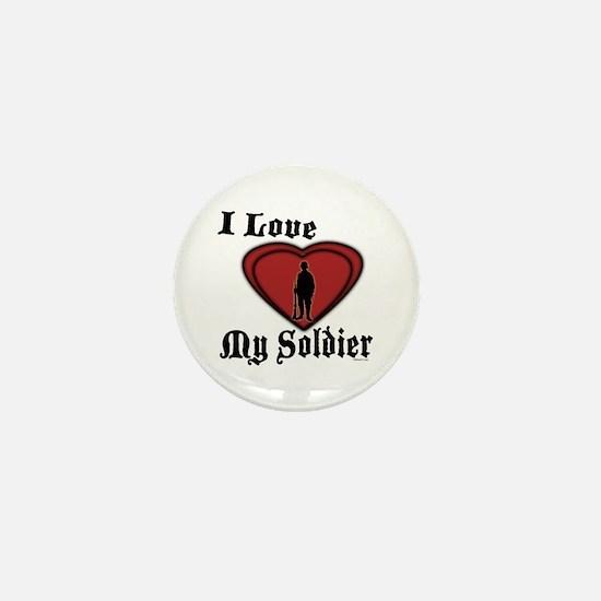 Love My Soldier Mini Button