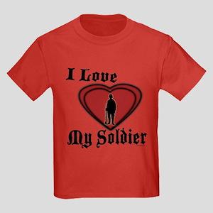 Love My Soldier Kids Dark T-Shirt