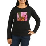Katydid in Flower Women's Long Sleeve Dark T-Shirt