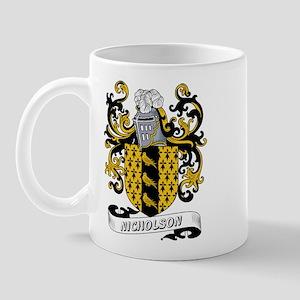 Nicholson Coat of Arms Mug