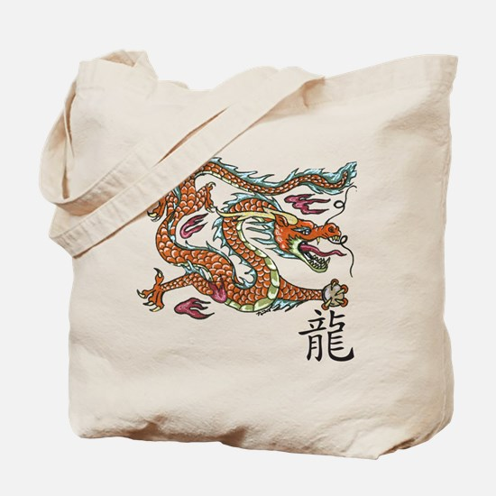 Unique Dragon chinese symbols Tote Bag
