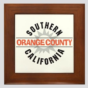 Orange County California Framed Tile