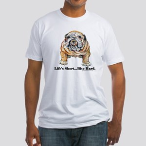 Bulldog Bite for Dog lovers Fitted T-Shirt
