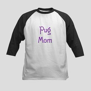 Pug Mom 16 Kids Baseball Jersey