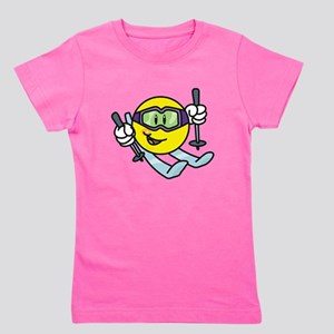 Smile Face Skiing T-Shirt