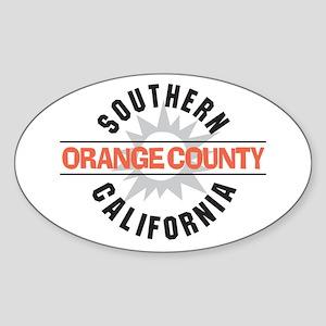Orange County California Sticker (Oval)