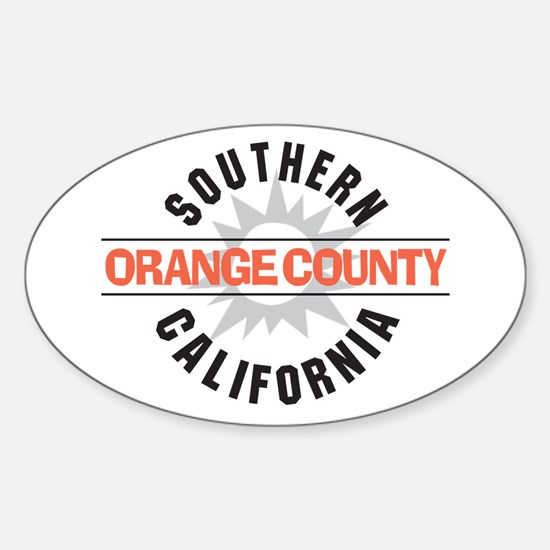 Orange County California Sticker (Oval)
