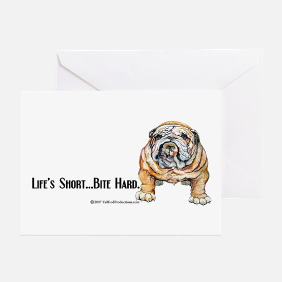 Bulldog Bite for Dog lovers Greeting Cards (Pk of