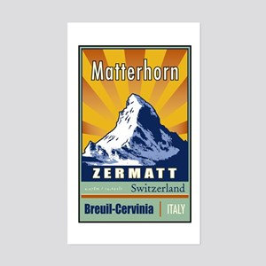 Matterhorn Rectangle Sticker