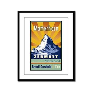 Matterhorn Framed Panel Print