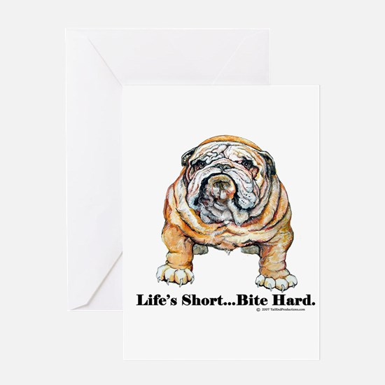 Bulldog Bite for Dog lovers Greeting Card