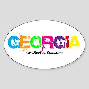 Colorful Georgia Oval Sticker